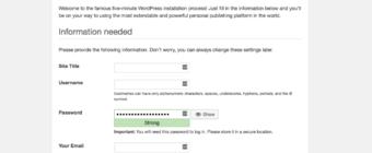 WordPress on Docker